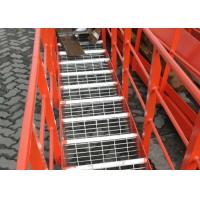 China Expanded Steel Stair Treads Grating , Galvanized Bar Grating Stair Treads on sale