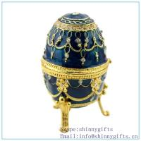 Best Violet Faberge Inspired Egg, discount Oeuf Bleu Faberge Inspired Egg on sale wholesale