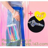 Best holographic pvc bags, holographic packs, holographic pouch bags, holographic metialized cosmetic make up, holographic PU wholesale