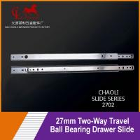 China 27mm Two-Way Travel Ball Bearing Drawer Slide For Medical carts 2702 on sale