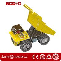 China Dump truck 3D puzzle car model kits DIY toys for boy , 3d puzzle truck on sale