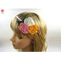 China Beautiful Girls Metal Bow Hair Bands With Flowers , Fashion Hair Accessories on sale