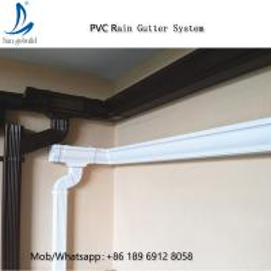 China Cheap Price Anti-Corrosion Roofing Plastic Rain Water Gutter Pvc Roof Drain/ Rain Water Drain/Drain Gutters on sale