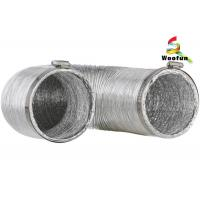 Best Air exhausting single or double layer aluminum flexible ducting , flexible aluminum foil duct wholesale