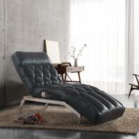 Details of living room giovanni black pu leather for Black leather chaise lounge sofa