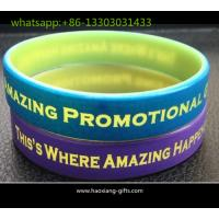Cheap wholesale custom silicone wristband/bracelet 190*12*2mm any color