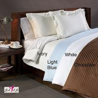 Best Light Blue Ivory Chocolate 100 % Cotton Country / Hotel Collection Double Bed Linen wholesale
