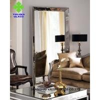 China Modern Large Frameless Mirror , Silver Full Length Mirror With Clear Surface on sale
