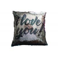 Best Two Sides Reversible Sequin Pillow I Love You Word Printing Pillow Cases For Sofa Decoration wholesale