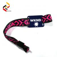 Best Tourist Attractions Tourist Tickets Consumption NFC NTAG216 RFID Fabric Wristband Payment Wristband wholesale