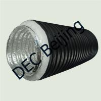 Buy cheap R1.0 30mm polyester insulation flexible duct 4''x25ft insulated flexible aluminum air duct product