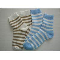Best Blue + White Striped Wool Socks wholesale