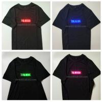 Best change  message  by customer Led neutral advertising led tshirt for men and women flashing party's tshirt  include LED wholesale