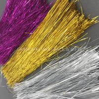 China Brown Colored Plastic Shredded Tissue Paper For Gift Baskets PE Metallic Decoration on sale