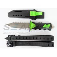 China Titanium scuba diving knife water sports equipment with sheath and straps on sale