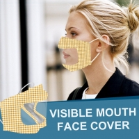 Best Reusable PET cloth visible mouth mask lip language face mask for deaf dumb people wholesale