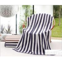 Buy cheap Plain Colored Zebra Striped Bath Towels Skin Care Machine Washable 70*140cm product