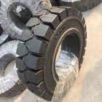 China Solid forklit tire 10.00-20, high quality solid tire 1000-20, industry solid tire 10.00-20 black nylon tire on sale