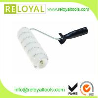 Best 9 middle pile 11 mm grey stripe nylon paint roller with black handle high quality wholesale