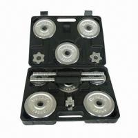 China 15kg Chrome Dumbbell Set with Enough Weight  on sale