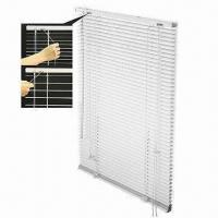 China Clear View Venetian Blinds with Nearly Transparent Slats, Available in Metal or PVC Head Rail on sale