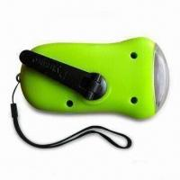 Buy cheap Solar Dynamo Torch, Made of ABS, with Built-in Rechargeable Lithium Battery from wholesalers