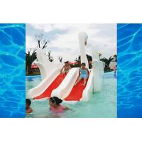 China Indoor Or Outdoor White Swan Fiberglass Pool Slide , Water Amusement Park Kids Water Slide on sale