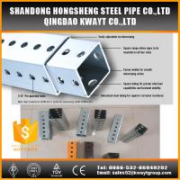 Buy cheap Outdoor steel traffic galvanized perforated square sign post from wholesalers