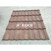 Aluminium - Zinc Material 0.4mm Thickness Colorful Stone Coated Metal Roofing Tiles
