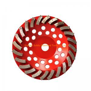 China Red Diamond Cup Grinding Wheel  Turbine Segment  4/5/7 Inch Diameter on sale