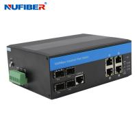 Best IP44 4 Port Managed Industrial Switch With 4 Sfp 4 KV Ethernet Surge Protection wholesale