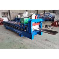 China Zinc Plated Coil Channel Roll Forming Machine For Fence PLC Automatic Control on sale