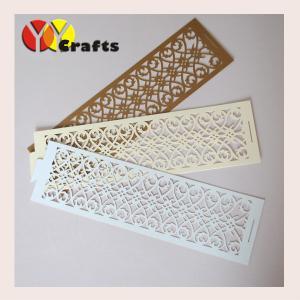 China Metallic paper handmade wedding napkin rings with popular design on sale