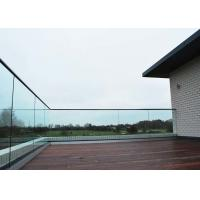 China Porch Aluminium Glass Balcony Balustrade Solid Structure Anti Corresion For Deckings on sale