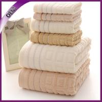China 100% cotton towel with jacquard border on sale