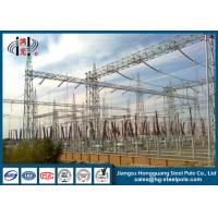China Power Transformer Substation Steel Structures Conical , Round on sale