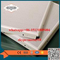 Best aluminum perforated acoustic ceiling panel for building decoration wholesale