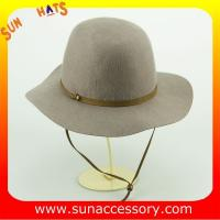 Best 2047 Sun Accessory Wool felt floppy hats with neck tie ,Shopping online hats and caps wholesaling wholesale