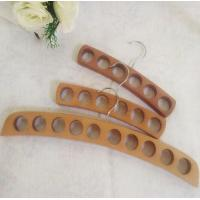 China 10 hole wooden hangers for scarf, scarves and tie hanger on sale