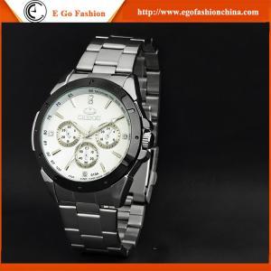 China 019A Fashion Watch Unisex Watch Black White Stainless Steel Watch Quartz Analog Watch Man on sale