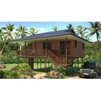 Best Prefab Light Steel Structure Beach Bungalows Wooden Look House wholesale