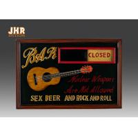 China Open And Close Signs Special Wooden Wall Plaques For Shops on sale