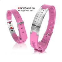 China Debossed Silicone Negative Ion Power Energy Balance Sport Wristbands on sale