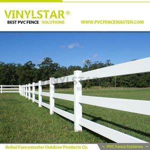 Best pvc horse fence with 3 heavy rail, 100% virgin PVC wholesale