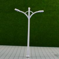 Best RB100- 6V Two-headed Street Plastic Model Lamppost for Train Track Layout 9.5cm wholesale