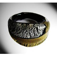 Best Classic Handmade Glass Rings Jewellery With Gold Tinsel For Wedding Gift wholesale