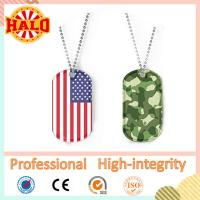 Best High quality anodized aluminum country flag metal tag dog wholesale
