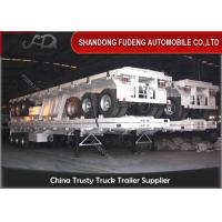 Best 3 axle Container Flat Bed Semi Trailer 40ft flatbed transportation trailers wholesale