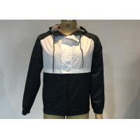 Best Hooded Cagoules Men Jacket Polyester Navy White Block Jacket Soft Shell Fabric wholesale