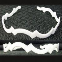 Best White Plastic Headband, Various Sizes are Available, with Fabric, Ribbon and Beading wholesale